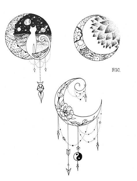 The bottom one #sunandmoontattoodesigns   Stuff I Love   Moon tattoo designs, Tattoos, Tattoo