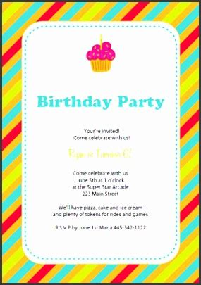 birthday party invitation  word format