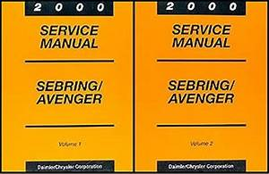 2000 Sebring Convertible Repair Shop Manual Original