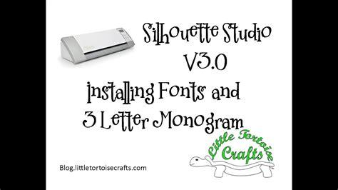 silhouette studio de  install font  letter monogram youtube