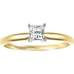 engagement rings at walmart keepsake 1 3 carat princess cut engagement ring in 10kt yellow gold walmart