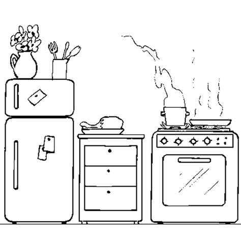 dessin d une cuisine coloriage cuisiniere picture to pin on pinsdaddy
