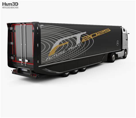 Future Mercedes Models by Mercedes Future Truck With Trailer 2025 3d Model Hum3d