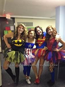 Cute Homemade Superhero Costumes for Girls | Batman tutu ...