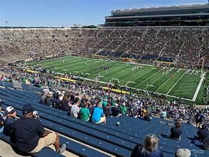 Notre Dame Stadium Row Chart Notre Dame Stadium Section 125 Rateyourseats Com