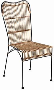 Chaise Rotin Et Metal : chaise en rotin naturel et m tal noir ~ Teatrodelosmanantiales.com Idées de Décoration