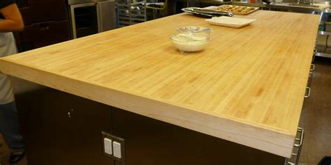 Butcher Block Counter Top Made Of Sing Torsion Box
