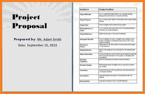 business proposal template microsoft word project
