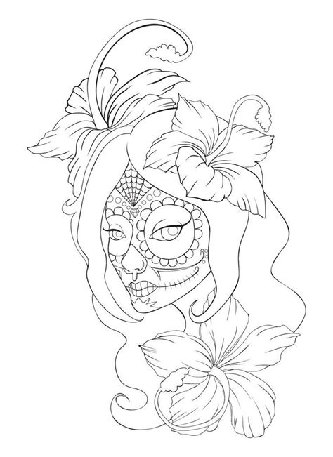 Sugar Skull Tattoo. Would use different flowers and a diff