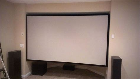 enormous projector screen   wood