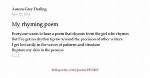 my rhyming poem
