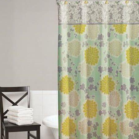 home classics flower shower fabric shower curtain blue