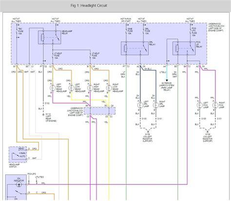 chevy hd headlight wiring schematic wiring