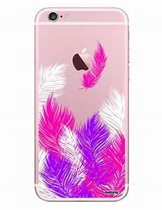 Coque Pour Iphone 6 : coque transparente plumes rose pour iphone 6 6s ~ Teatrodelosmanantiales.com Idées de Décoration