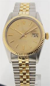 Rolex Uhr Herren Gold : rolex oyster perpetual datejust herren stahl gold referenz 16013 ebay ~ Frokenaadalensverden.com Haus und Dekorationen