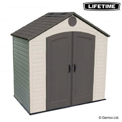 lifetime shed 10x8 assembly lifetime 8x5 plastic shed 6418