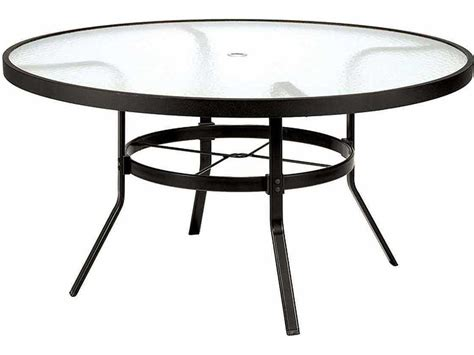 table with umbrella hole winston obscure glass aluminum 54 39 39 round dining table