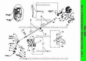 Ryobi Pbc 3020 Petrol Split Straight Shaft Brushcutter