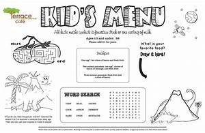 restaurant menu template for kids world of printable and With free printable menu templates for kids