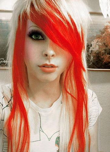Emo Hairstyles With Red Highlights