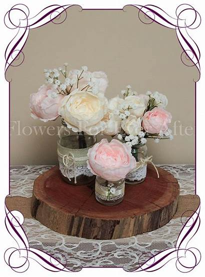 Table Decoration Blush Pink Peony Pastel Artificial