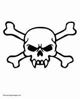 Coloring Skull Crossbones Evil Pages Bones Drawing Skulls Fangs Template Clipart Pdf Templates Getdrawings Sketch sketch template