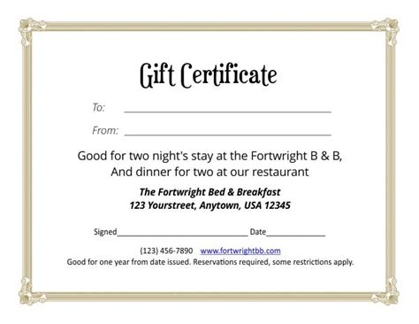 4 5 x 11 gift card template gift certificate template 4 5