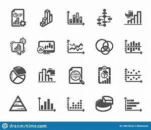 Charts And Diagrams Icons  Set Of 3d Chart  Block Diagram