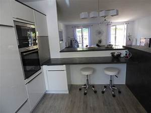 gris anthracite et blanc laque moderne cuisine paris With idee deco cuisine avec cuisine blanc et gris anthracite
