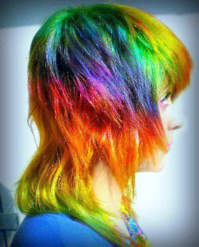 Rainbow Hair Tye Dye Pinterest