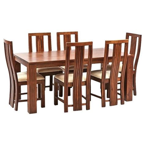 wooden dining table and 6 chairs ethnic india art madrid 6 seater sheesham wood dining set