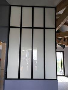 Fenetre Interieure Dans Cloison : verriere opaque deco pinterest verri re paroi verre et salle de bains ~ Melissatoandfro.com Idées de Décoration