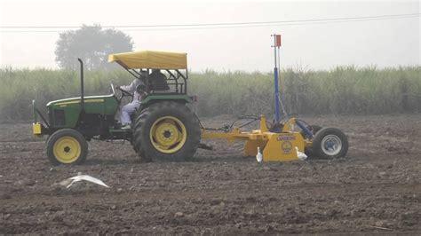 land king agri control laser land leveler youtube