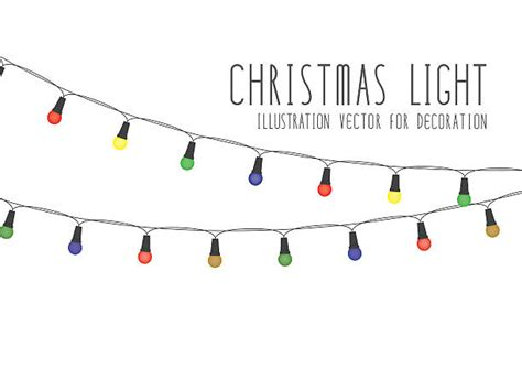 christmas lights clip art vector images illustrations