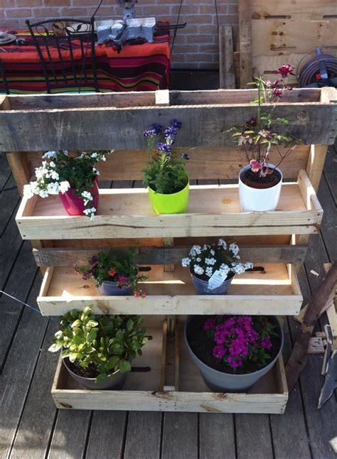 How To Build A Vertical Pallet Garden by Pallet Vertical Garden With Pots