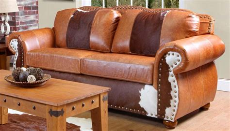 Top Grain Cowhide Leather by Chelsea Home Rawhide Sofa Set Top Grain Leather And