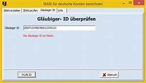 Kontonummer Aus Iban Berechnen : ibans korrekt berechnen und pr fen ~ Themetempest.com Abrechnung