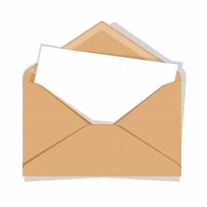 Envelope Premium Opened Isolated