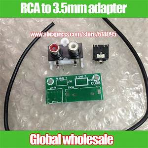 Audio Input Adapter Board Kit    Rca Adapter To 3 5mm