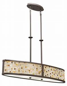 kichler kichler 65380 olde bronze blythe single tier With bronze linear floor lamp with four lights