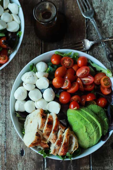 minute avocado caprese chicken salad  balsamic