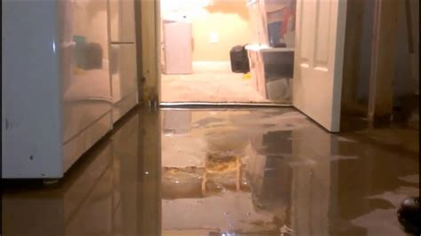 basement floods  concrete floor youtube