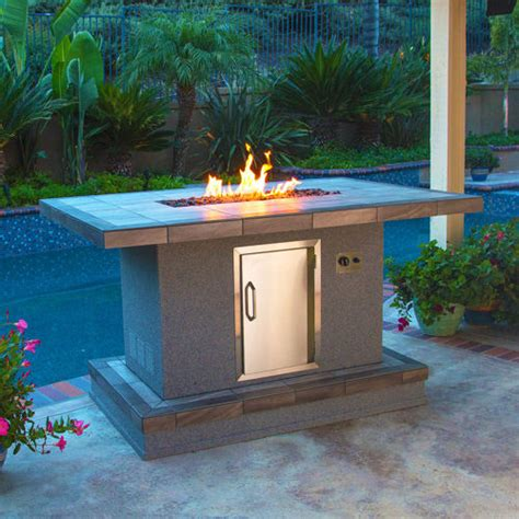 outdoor gas tables bar height pit table