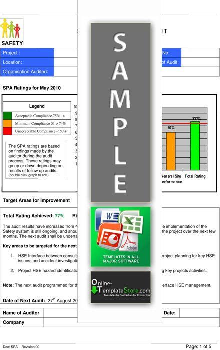 safety audit report health safety templates health