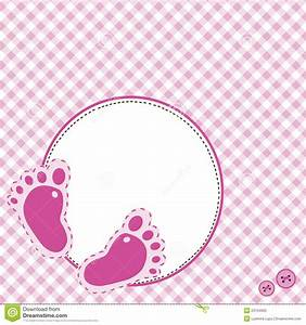 Pink Background With Baby Footsteps Stock Vector - Image ...