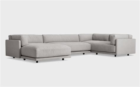 sectional sofa left arm chaise sunday l sectional sofa w left arm chaise blu dot