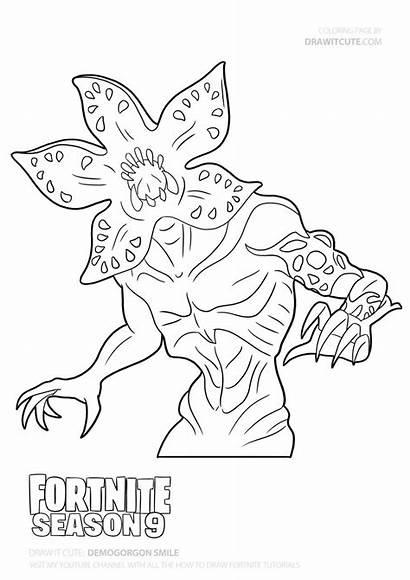 Draw Demogorgon Fortnite Season Stranger Coloring Things