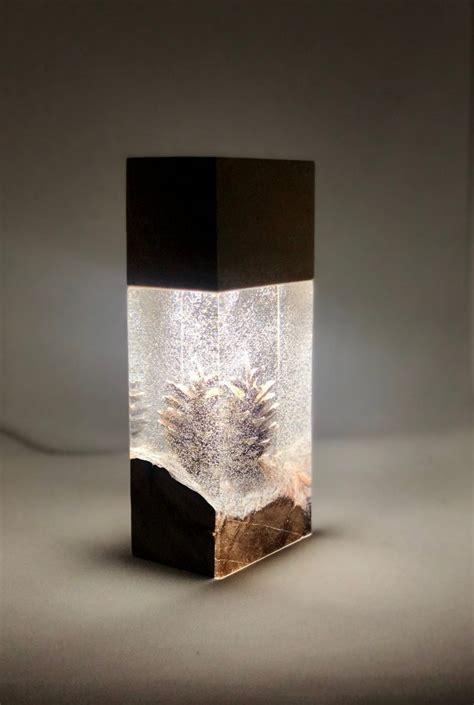 night light epoxy resin wood lamp id lights