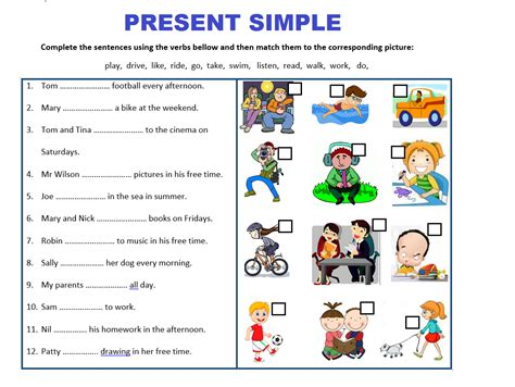 present simple tense worksheets teaching resources and