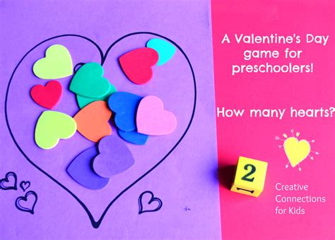 how many hearts a math 685 | A Valentines Day game for preschoolers